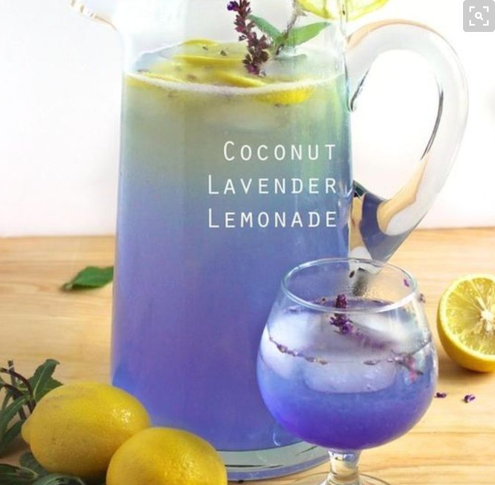 Lavender Accents. Drinks, Brunch, etc