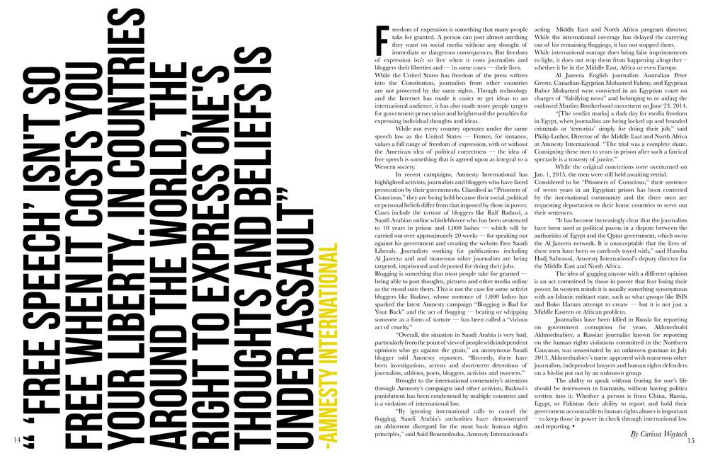 Vindicator Student Magazine