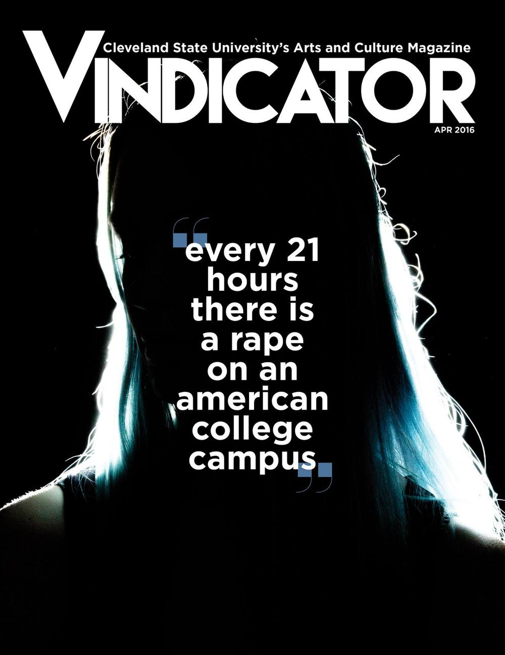 The Vindicator - April Issue Cover