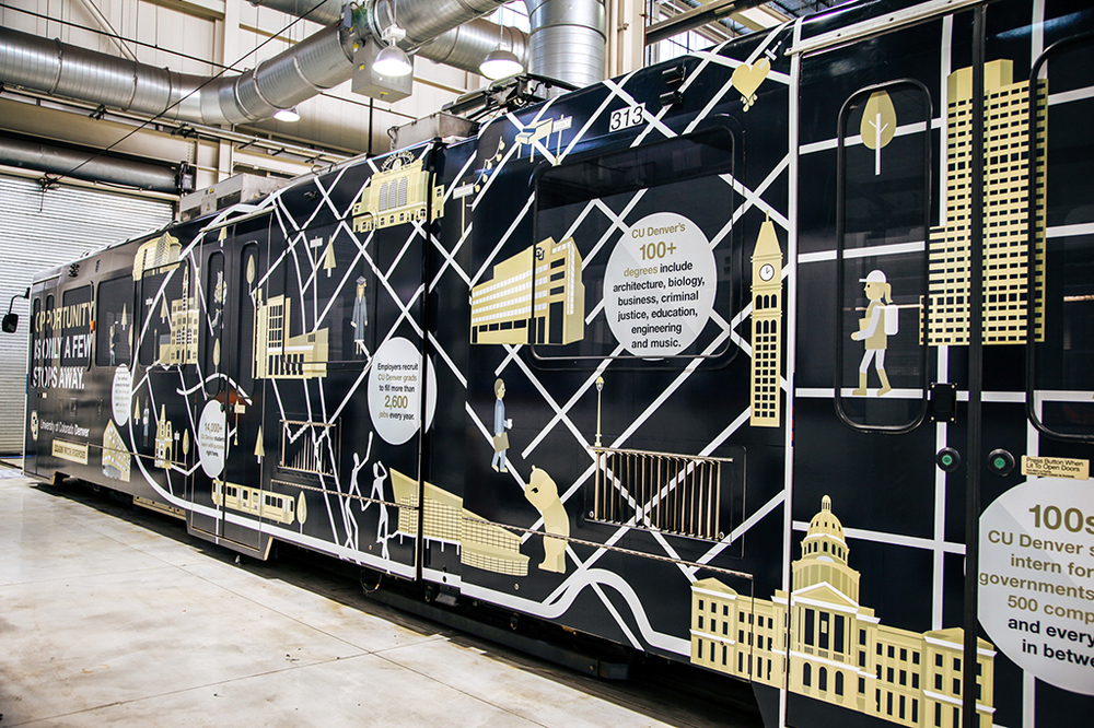 CU Denver Lightrail Wrap