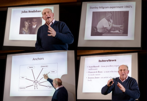 James Maberly speaking at Framlingham College