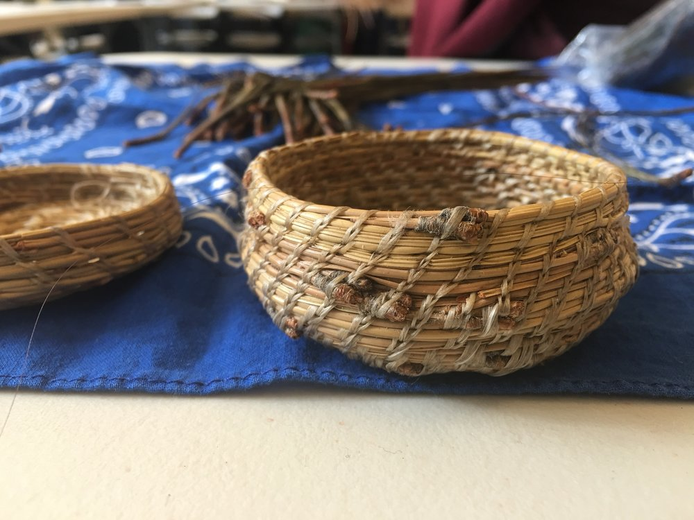 Washoe Pine Needle Basket Weaving  -