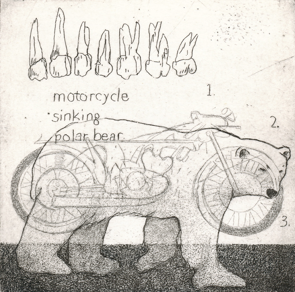 Motorcycle, Sinking, Polar Bear