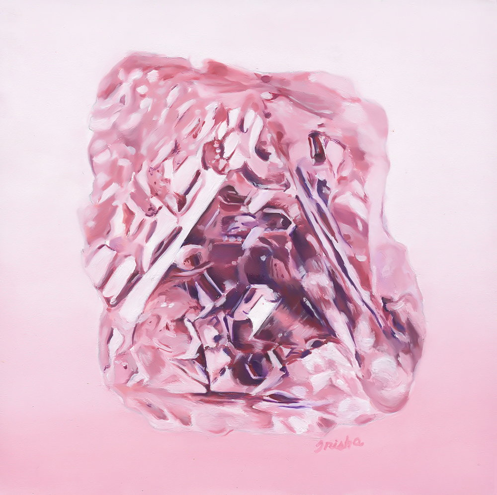 Pink Diamond, oil on board, Trisha Thompson Adams 2016