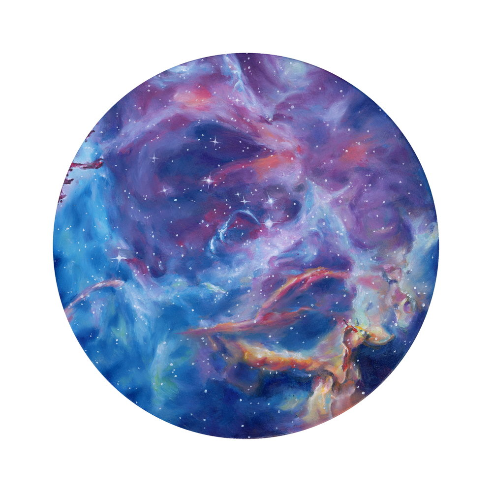 Rosette Nebula, oil on board, 2015