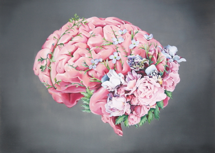 Floral Anatomy Brain (ITEM NO: 014)  Print Size: 8x10 inches (landscape)  $12.50 Wholesale at 50% off  $25 RRP