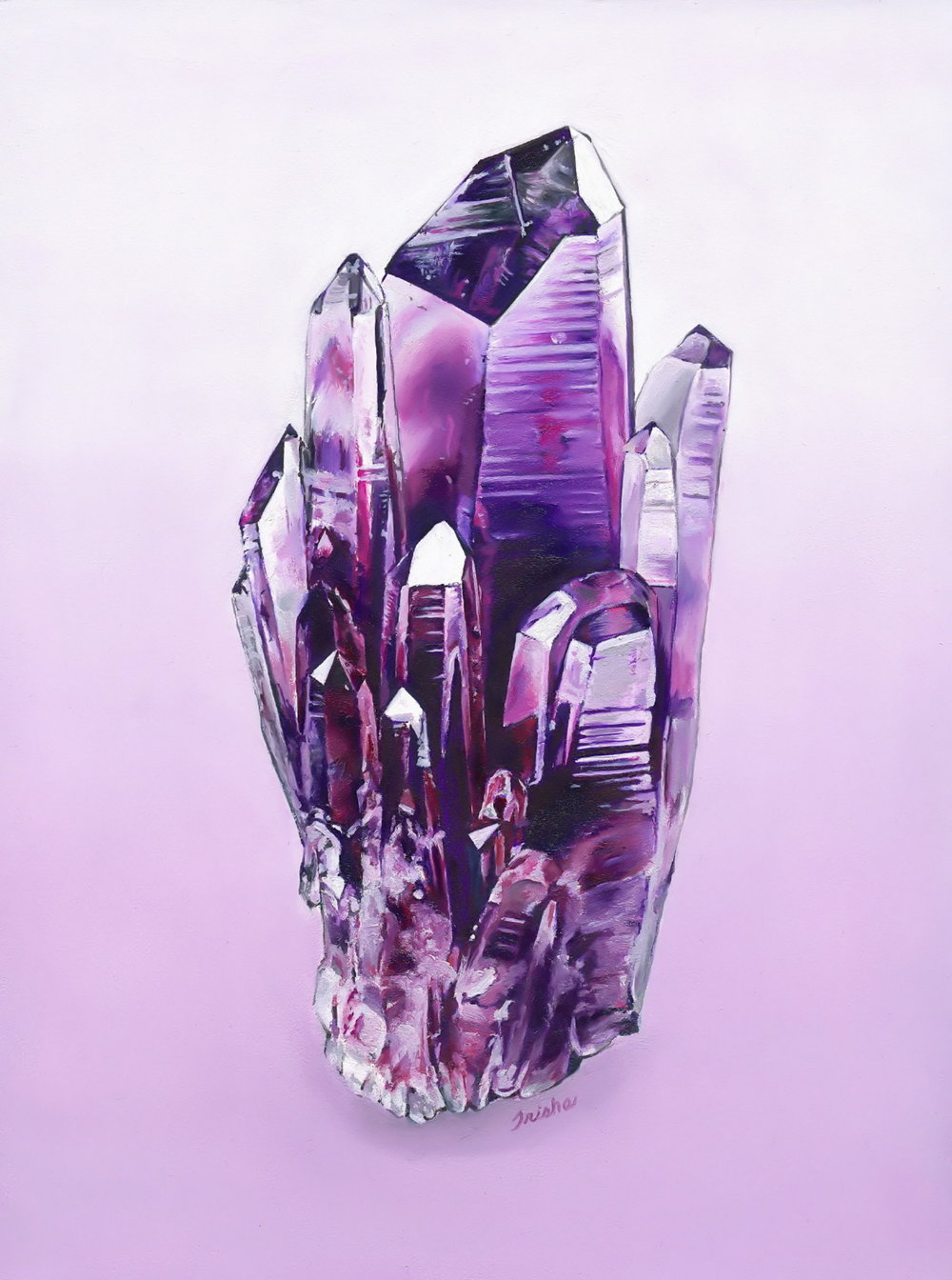 Amethyst (ITEM NO: 009)  Print Size: 8x10 inches   $12.50 Wholesale at 50% off  $25 RRP
