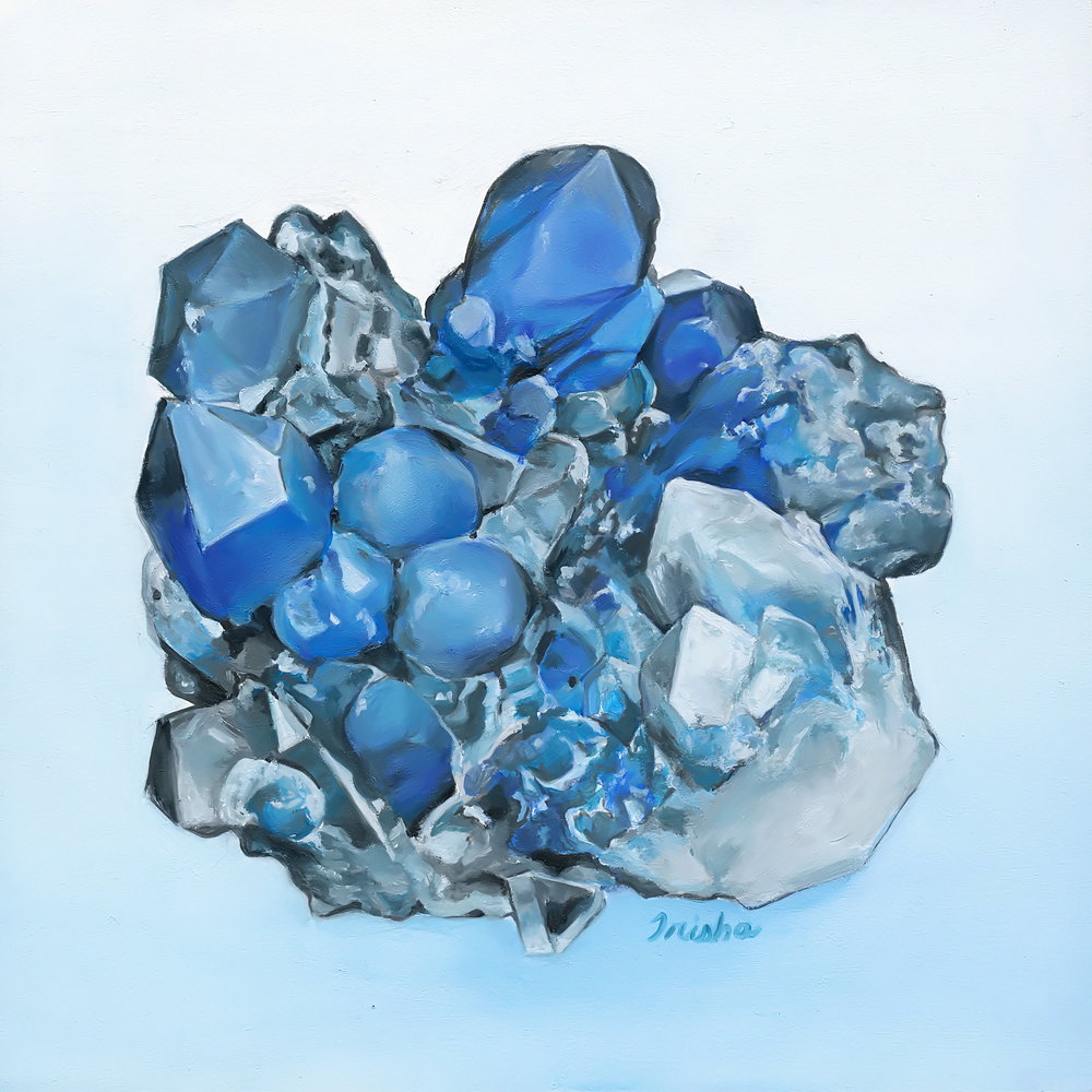 Quartz Papagoite (ITEM NO: 006)  Print Size: 8x8 inches   $12.50 Wholesale at 50% off  $25 RRP