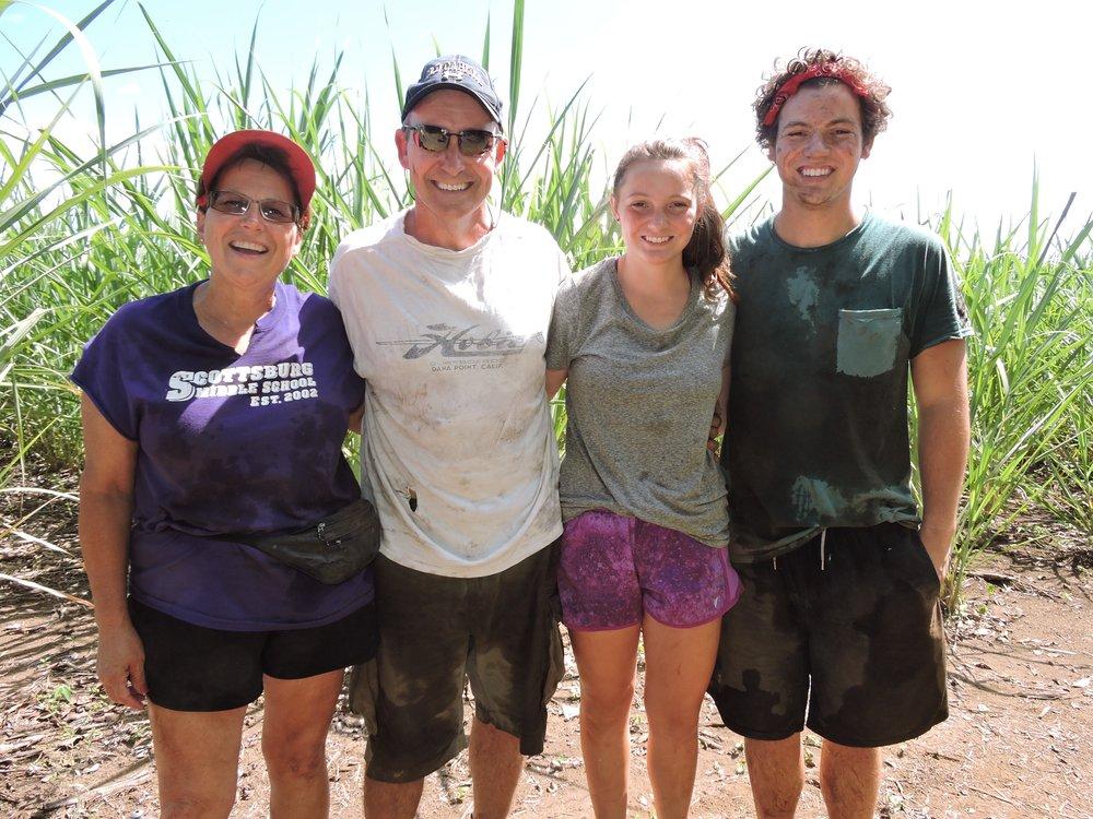Lisa, Jeff, Hannah, and Evan Conder