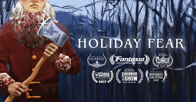 my #christmas horror comedy #holidayfear has officially premiered on @birthmoviesdeath just in time for #blackfriday! link in bio.
