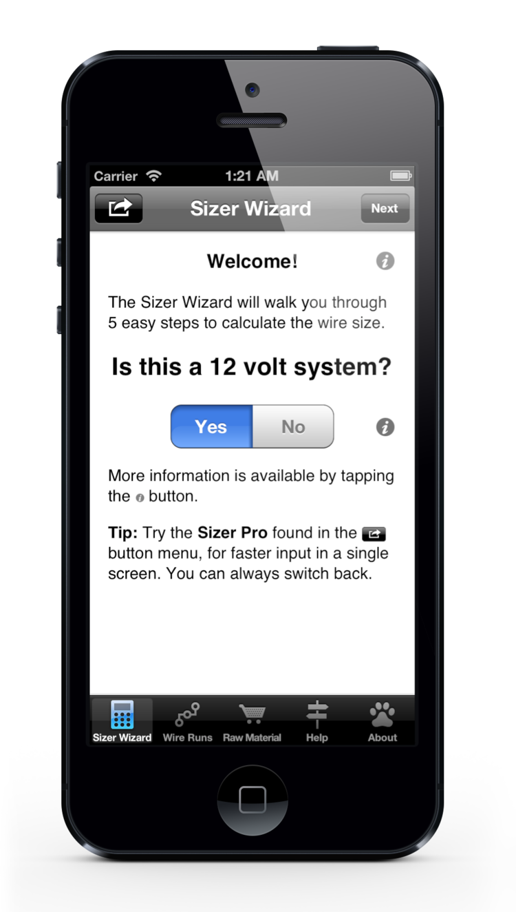 Dc wire sizer dirty dog software the sizer wizard 5 easy steps to wire sizing keyboard keysfo Images