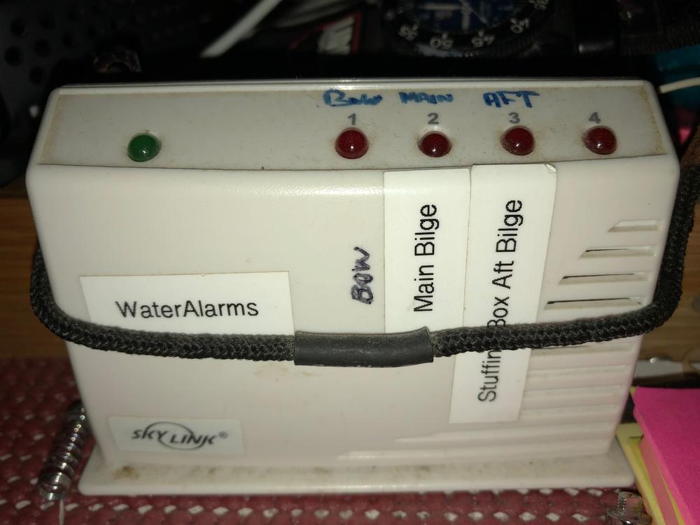 Wireless Skylink alarm  displays which bilge is alarming