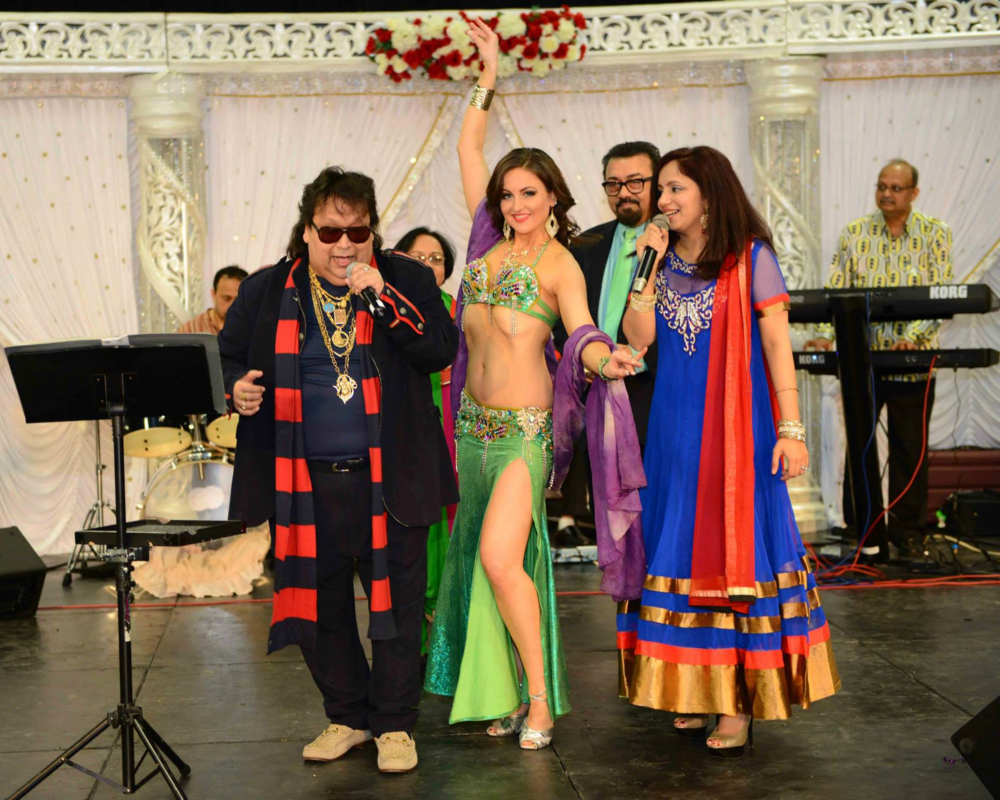 Belly Dancer Serafina Performing with Bappi Lahiri at India Fair in Edison, NJ Photo by Dreamline Productions