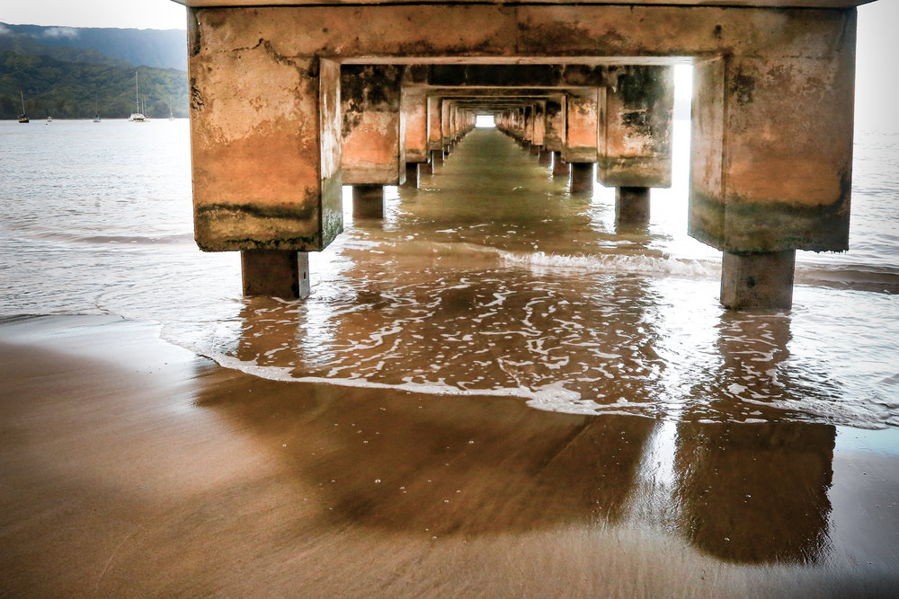 Underneath the Hanalei Pier.jpg