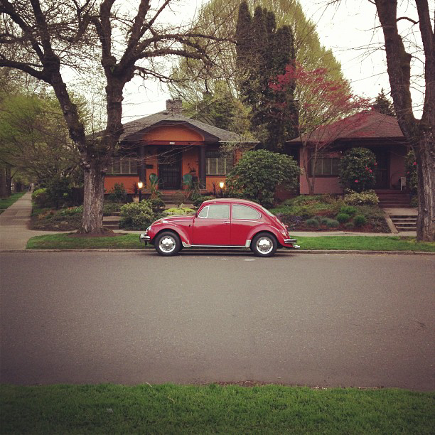 VW Beetle seen in Ladd's Addition