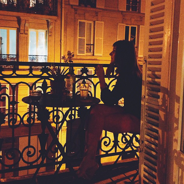 Our Paris balcony
