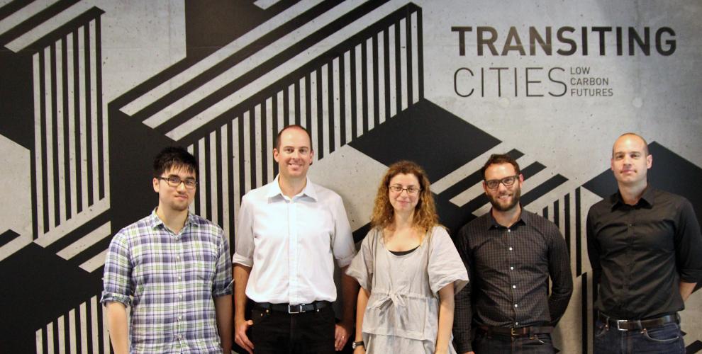 OUTR team - Peter Wang, Greg Afflick, Rosalea Monacella, Tom Harper & Craig Douglas