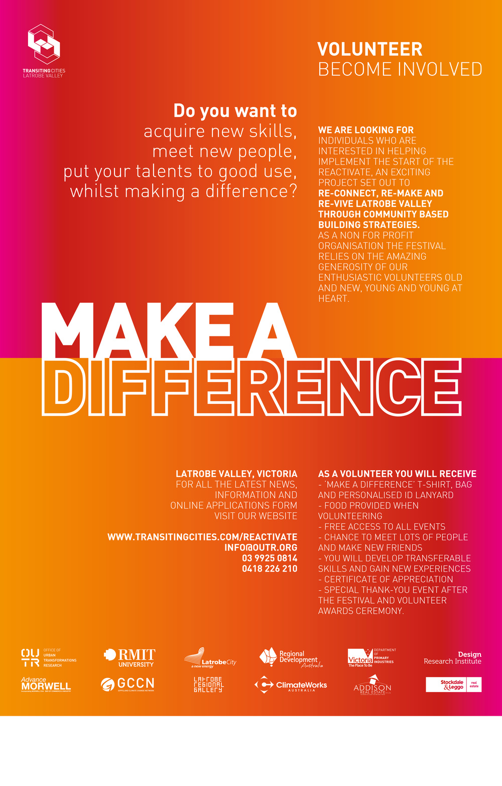 Download the 'Make A Difference' poster