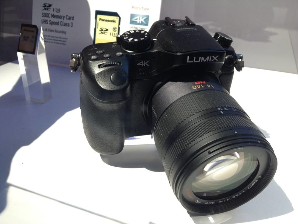 This is the first photo of the Gh4 I took the CES 2014 floor