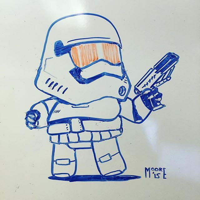 #stormtrooper #whiteboard #doodle