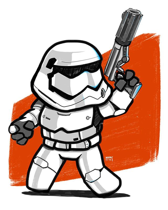 A little holiday break doodle. #stormtrooper