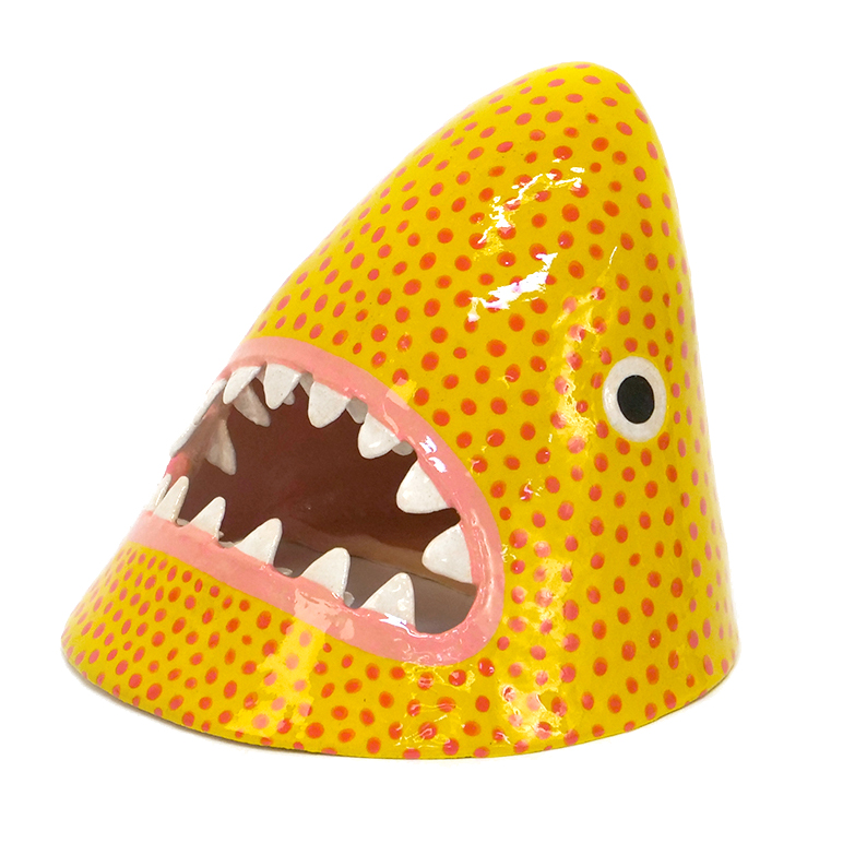 Medium Yellow and Red Dotted Shark 2.jpg