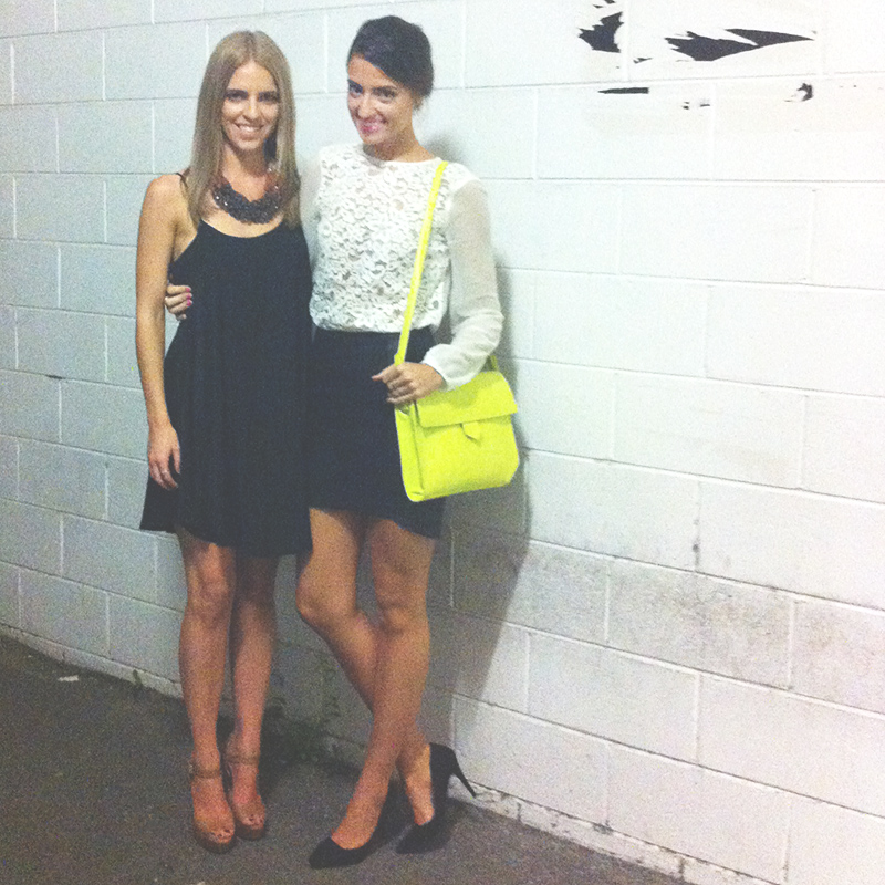 Kate & I before the event.. Kate wearing dress & necklace by Sportsgirl & shoes by Tony Bianco