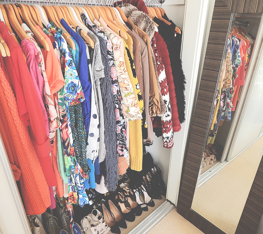 A look inside my wardrobe. I hope you have enjoyed a walk through my wardrobe!