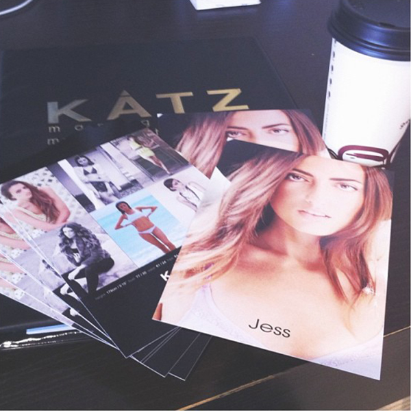 Comp cards for Katz Management.