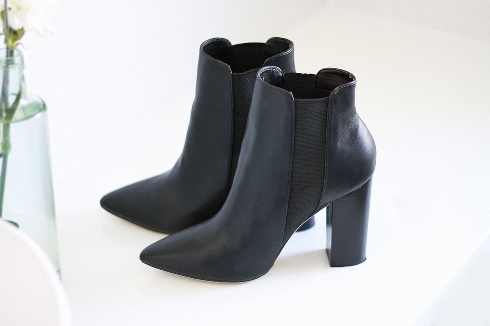 A pair of heeled ankle boots for winter nights & days - these Mob by Zu Shoes are a favorite of mine with size gusset detailing and a pointed heel.