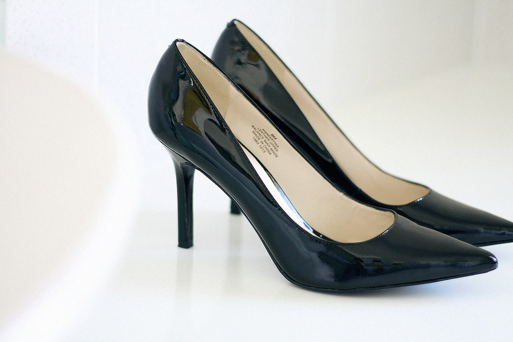 The simple black pointed heel.. these can be worn for just about any occasion from at the office, heading to dinner or out to a bar. Find the shoe height that works for you - this Martina Pump by Nine West is a mid height and super comfortable to wear!