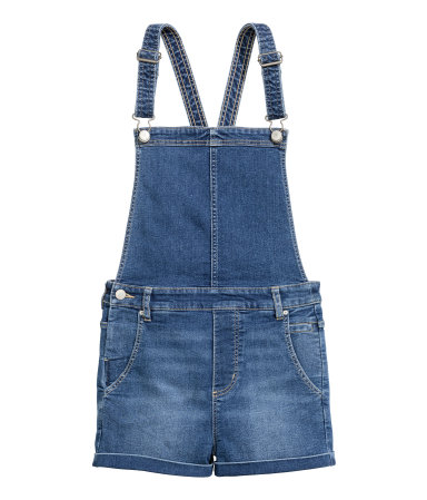 H&M -  DUNGAREE SHORTS - DENIM  - $39.95