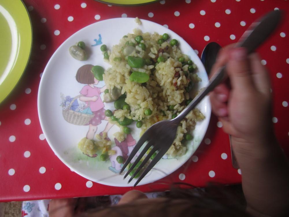 Ivy - Broad Bean + Pea Paella