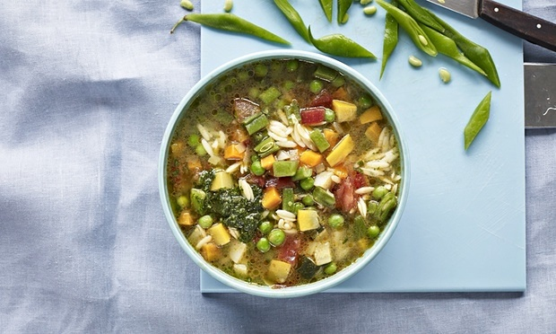 Soup au Pistou. Photograph: Nassima Rothacker for the Guardian