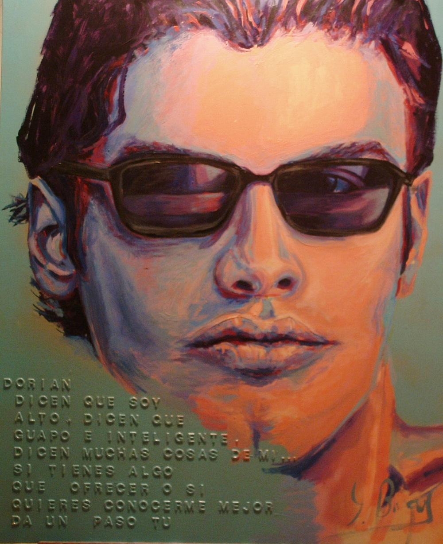 Mi primer acercamiento a las problemáticas de Género  Óleo sobre lienzo y collage  1, 16 x 0, 89 cm  2003