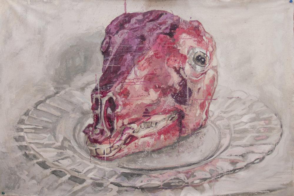 Agnus Day  Óleo sobre lienzo /Oil on canvas  100 x 178 cm