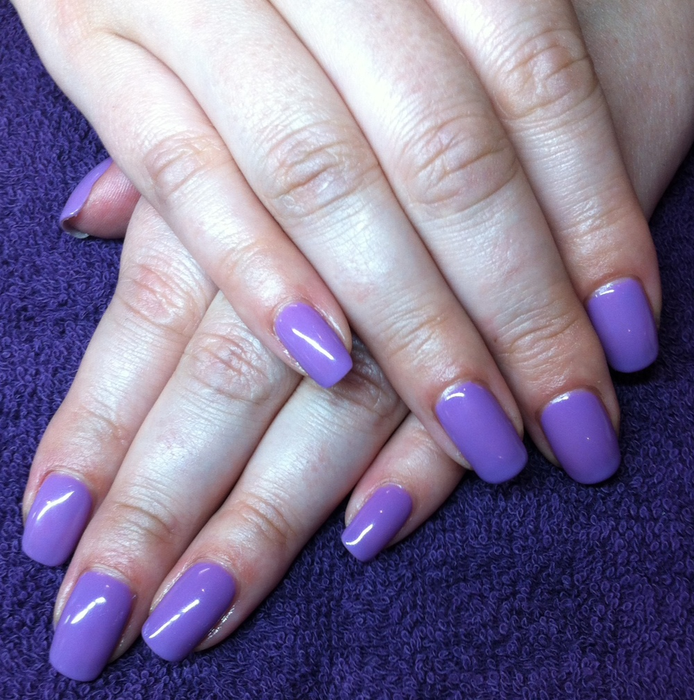 Gel polish manicure on natural nails