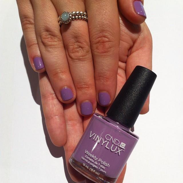 Vinylux polish on natural nails