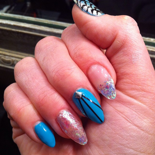 BioSculpture extensions with nail art