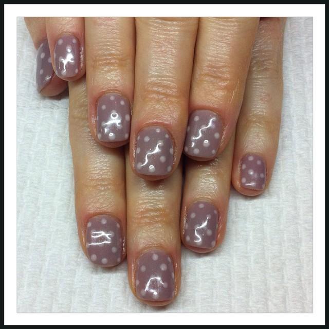Gel polish manicure with art