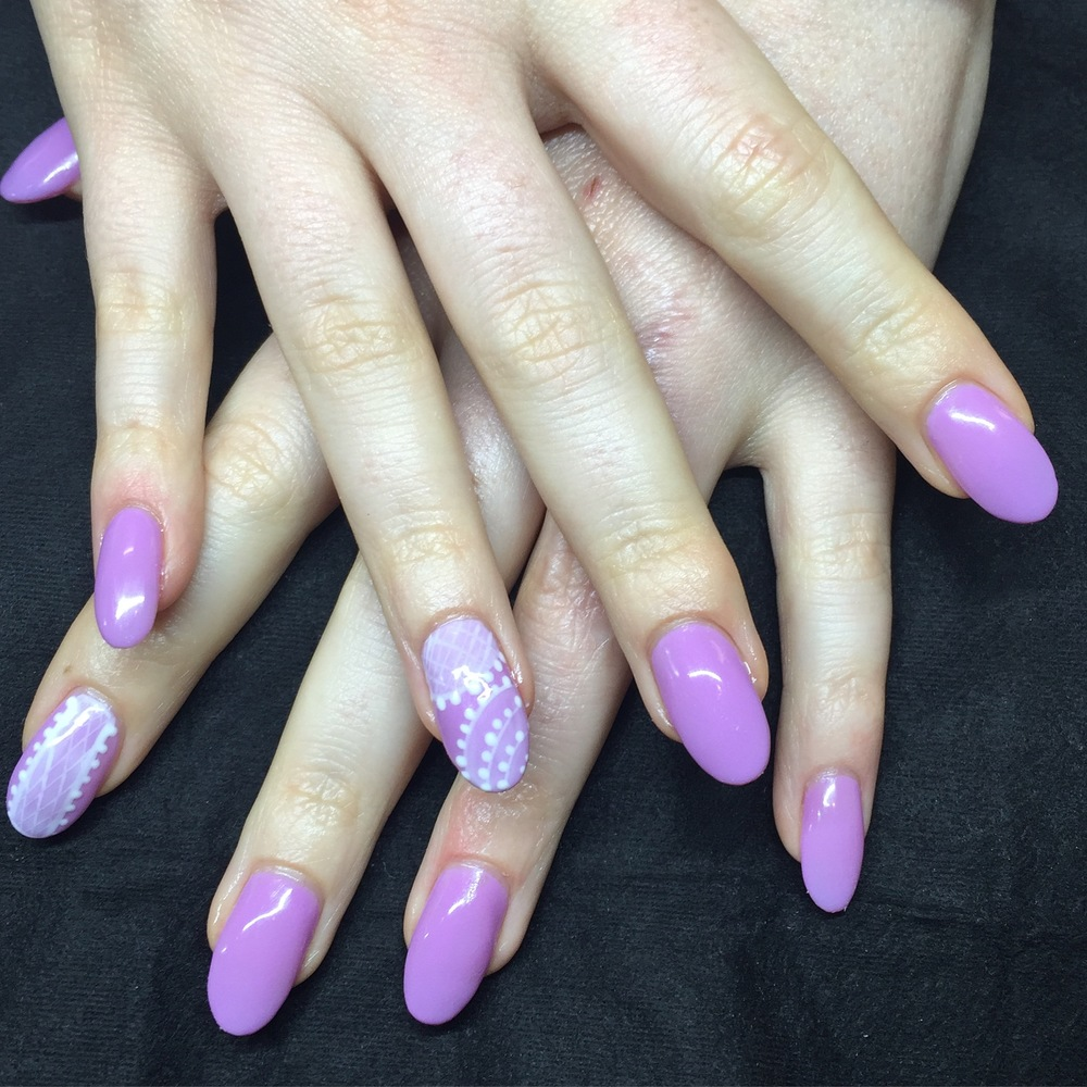 BioSculpture Gel Extension Refills With Lace Nail Art