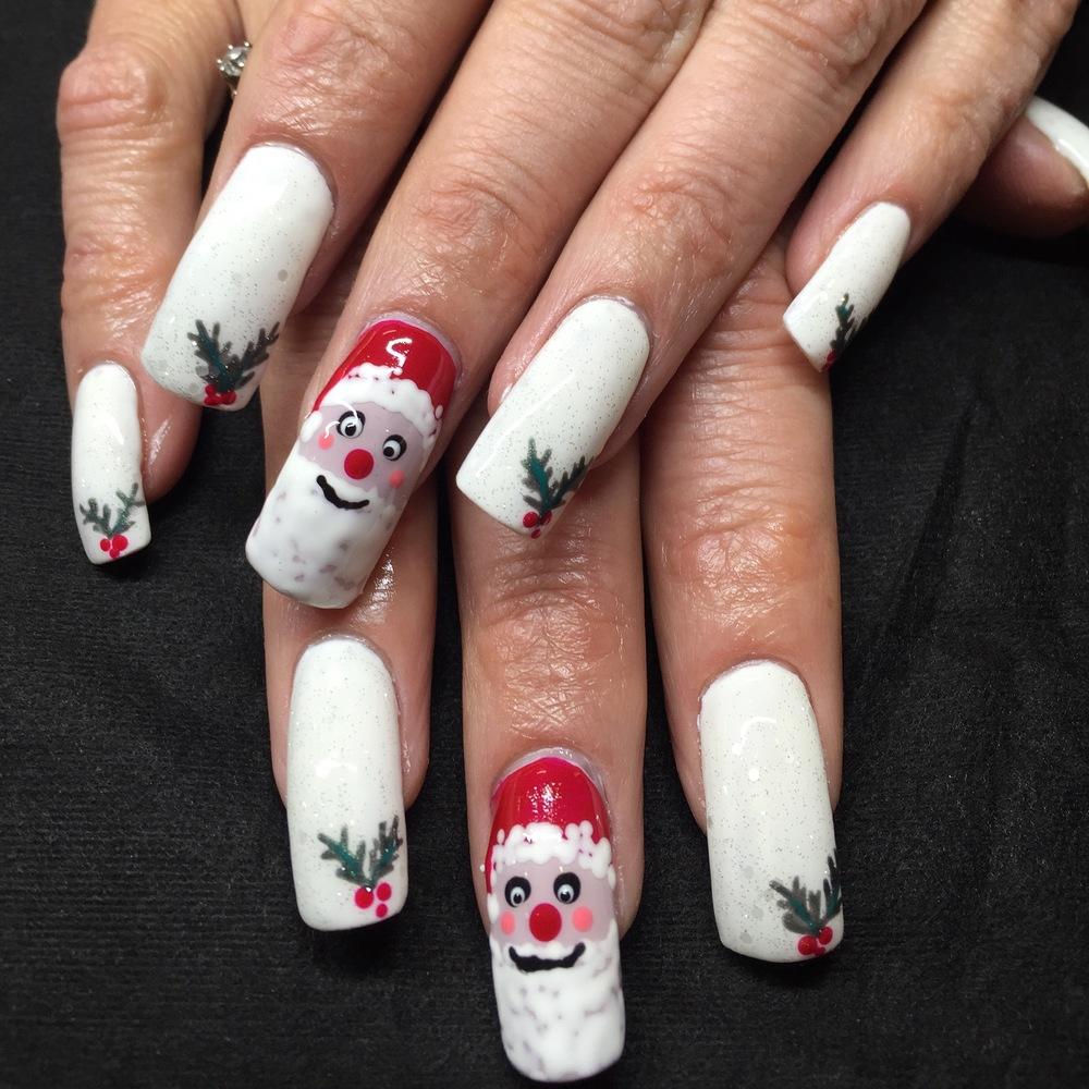 Gel Polish Xmas nail art
