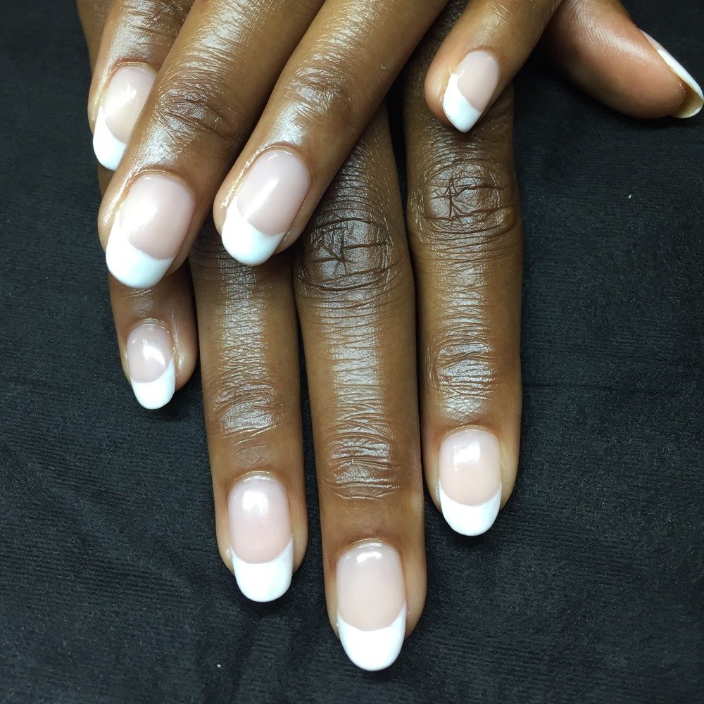 Classic French Manicure with Gel Polish