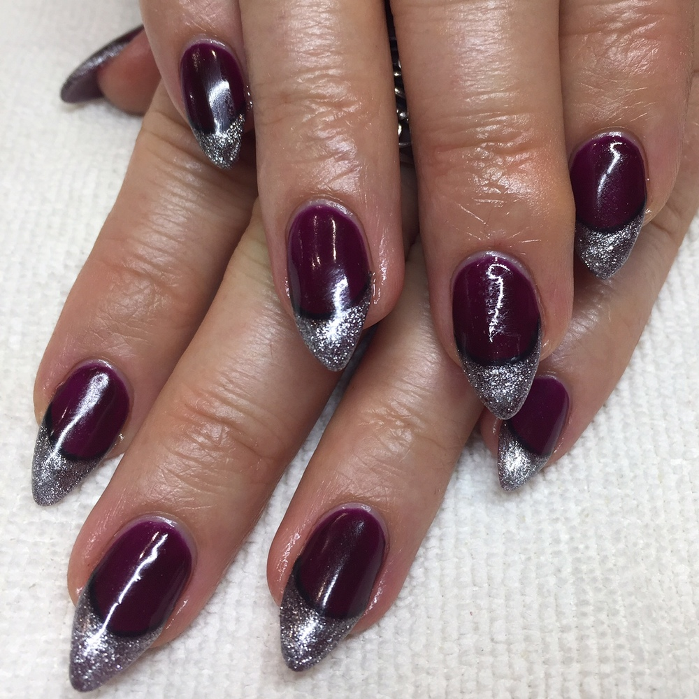 BioSculpture Extensions with glitter french tips