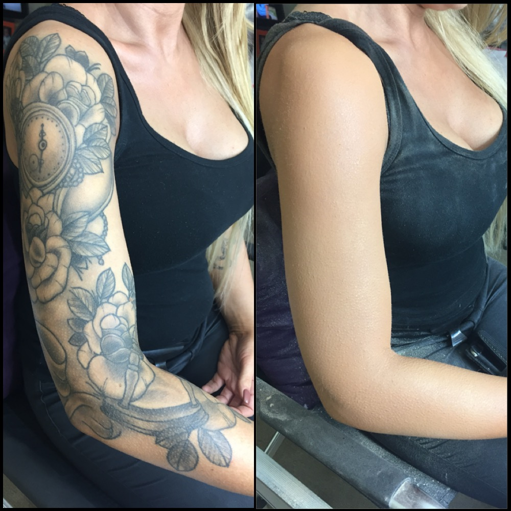 Full Sleeve Tattoo Camouflage Makeup Cover Up