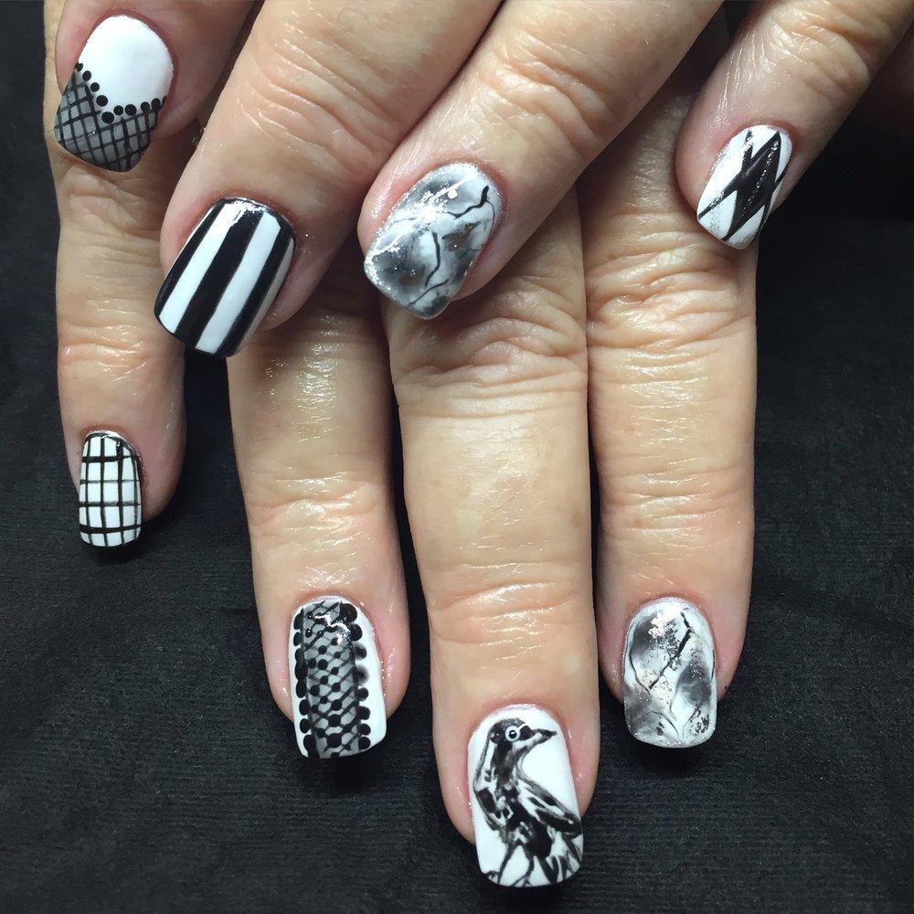 Collingwood FC Nail Art Set
