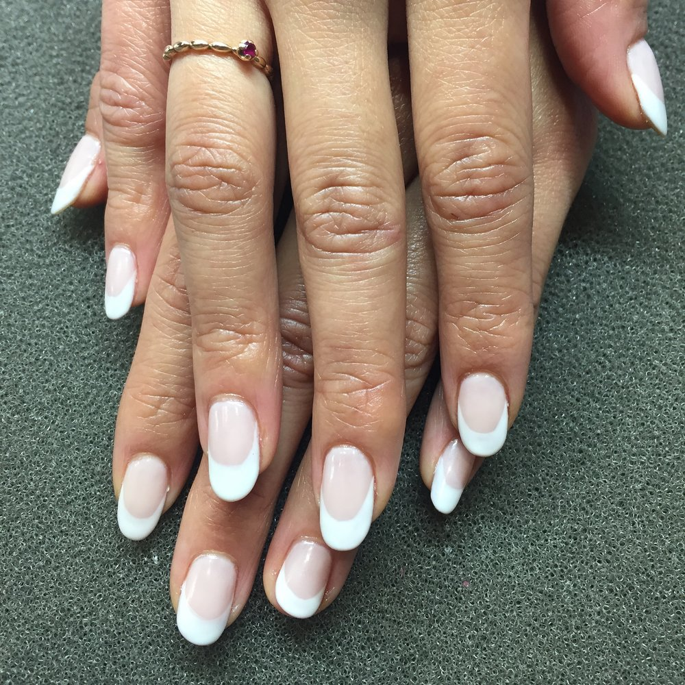 Thick White French tips