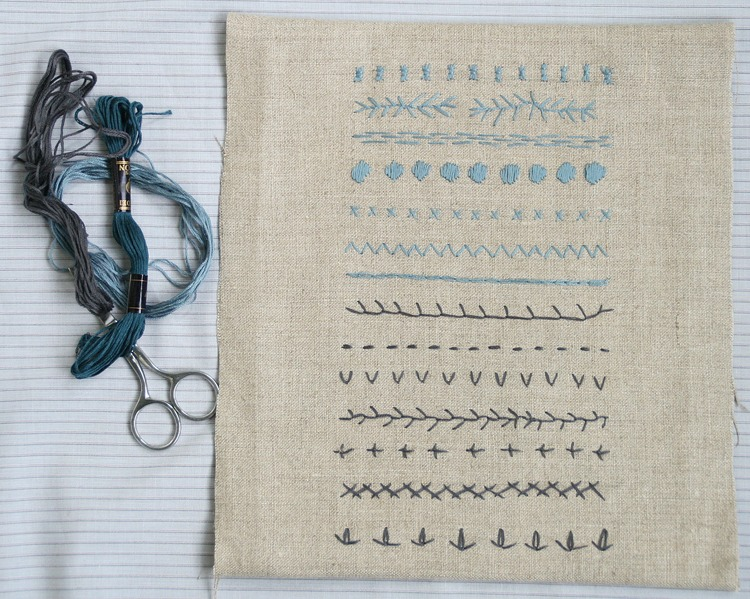 Embroidery Modern Sampler The Craft Sessions