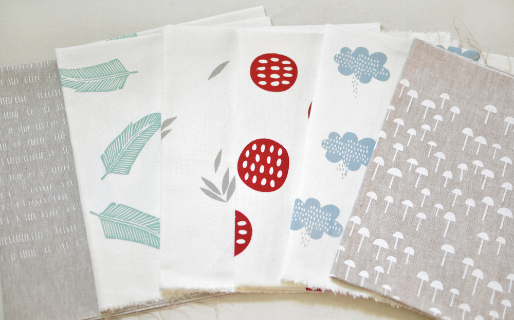 Giveaway - Six handprinted panels from Leslie at Maze and Vale