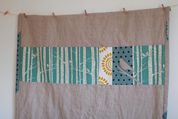 Linen Cot Quilt